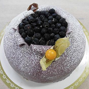 tårta marsipan choklad