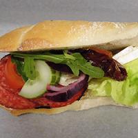 Salami och Brie smörgås